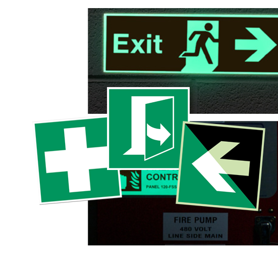 Evakuatsioonimärgid ja esmaabimärgid